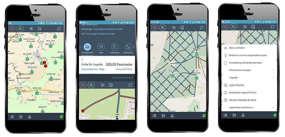 GIS eingebettet in einer mobilen Fachanwendung