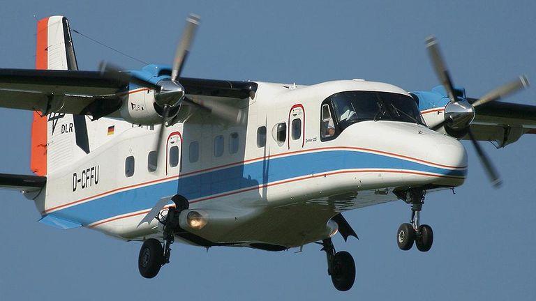 Abb. 1: Die Dornier Do228 des DLR, mit dem die Radarbefliegungen durchgeführt werden