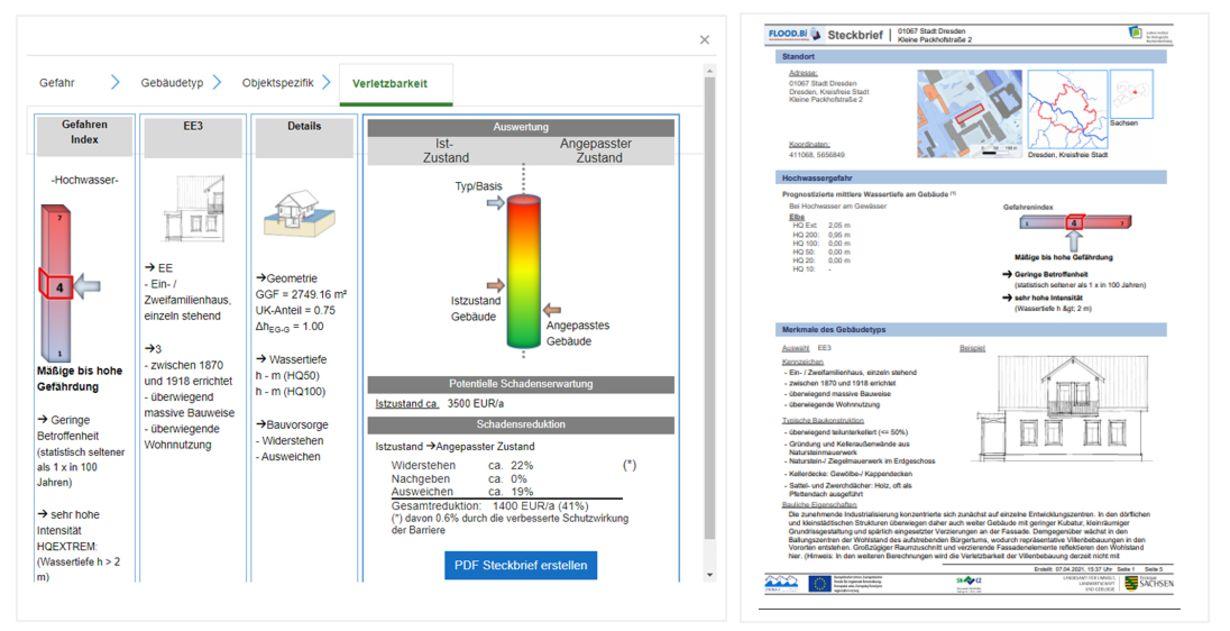 Im Webportal FLOOD.Bi Optionen zur Hochwasservorsorge simulieren